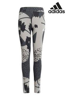 adidas 3 Stripe Animal Print Leggings
