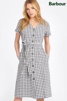Barbour® Coastal Navy Gingham Peregrine Shirt Dress