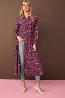 Maxi Utility Long Sleeve Shirt Dress