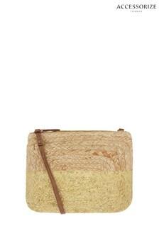 Accessorize Gold Sarah Metallic Cross Body Bag