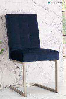 Set of 2 Tivoli Cantilever Chair Dark Blue by Bentley Designs