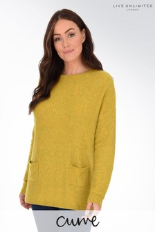 Live Unlimited Curve Chartreuse Jumper With Front Pockets