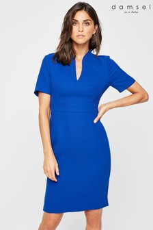 Damsel In A Dress Blue Isabella Colour Split Dress
