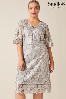 Studio 8 Grey Ellis Lace Dress