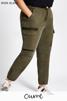 River Island Khaki Hailey Cargo Trousers