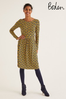Boden Yellow Abigail Jersey Dress