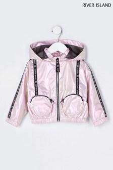 River Island Pink Medium Betsey 3D Pocket Bomber Jacket