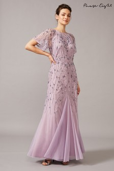 Phase Eight Purple Florisa Sequinned Dress