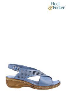 Fleet & Foster Blue Judith Open Toe Sandals