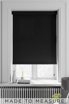 Weave Jet Black Made To Measure Roller Blind