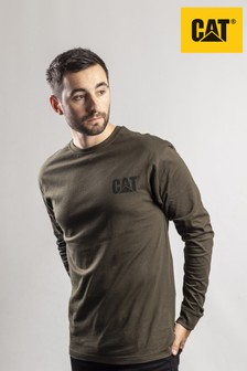 CAT® Green Trademark Banner Long Sleeve T-Shirt