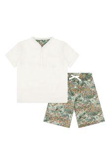 Bonpoint Boys Green Cotton Pyjamas