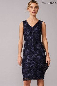Phase Eight Blue Blanca Tapework Dress