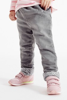 Grey Leopard Pull-On Jeans (3mths-7yrs)