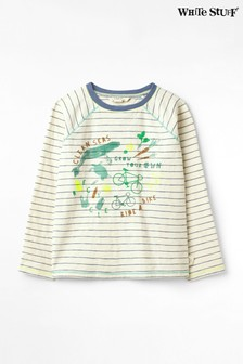 White Stuff Natural Kids Clean Seas Jersey T-Shirt