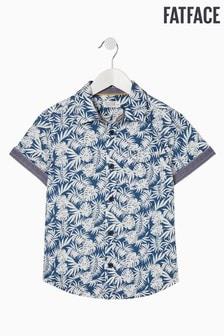 FatFace Blue Palm Print Shirt