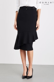 Damsel In A Dress Black Lydia City Frill Skirt