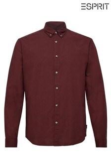Esprit Pink Long Sleeve Micro Check Shirt