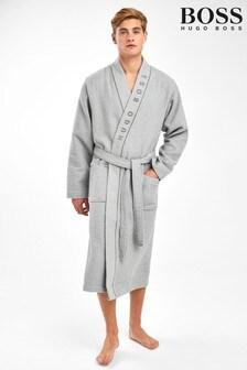 BOSS Grey Waffle Kimono Robe