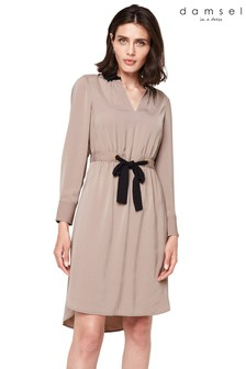Damsel In A Dress Brown Hannah Colourblock Dress