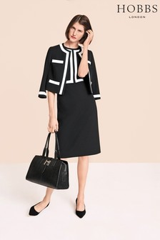 Hobbs Black Jackie Dress
