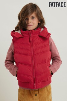 FatFace Pink Hooded Gilet