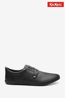 Kickers Black Kariko Gibb Leather Shoes