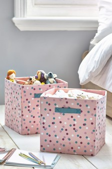 2 Pack Patterned Storage Cubes