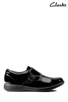 Clarks Black Etch Strap K Shoes
