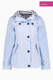 Joules Light Blue Waterproof Hooded Coast Jacket