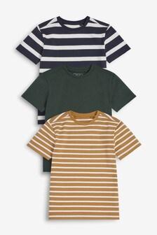 3 Pack Classic Stripe T-Shirts (3-16yrs)