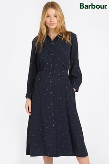 Barbour® Coastal Navy Polka Dot Merlin Shirt Dress