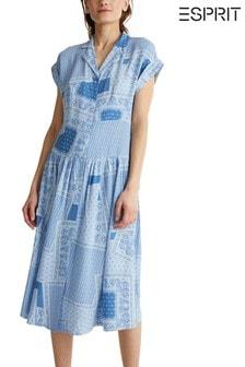 Esprit Blue Tunic Midi Dress