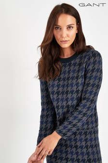 GANT Navy Patterned Crew