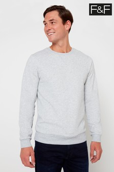 F&F Grey Marl Crew Sweater