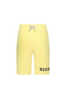 MSGM Boys Yellow Cotton Shorts