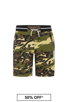 Givenchy Kids Baby Boys Khaki Cotton Shorts