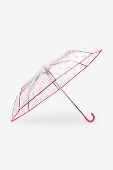 Multicolour Zebra Print Crook Handle Umbrella