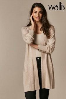 Wallis Stone Wool Longline Cardigan