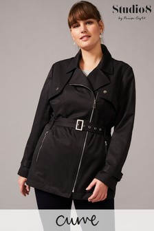 Studio 8 Black Rose Soft Biker Coat