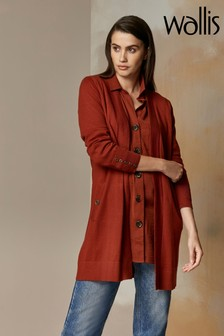 Wallis Toffee Wool Longline Cardigan