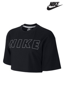 Nike Air Black Cropped T-Shirt