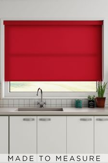 Margot Red Made To Measure Roller Blind