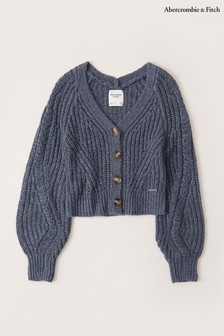 Abercrombie & Fitch Short Blue Cardigan