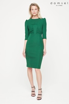 Damsel In A Dress Green Byanca Fitted Dress