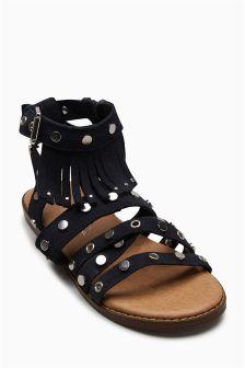 Fringe Stud Sandals (Older)