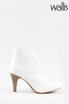 Wallis Amuse White Elastic Gusset Shoeboots