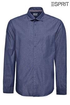 Esprit Navy Mini Dot Long Sleeve Shirt
