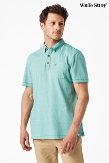 White Stuff Green Truro Stripe Polo
