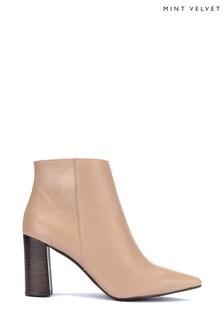 Mint Velvet Melanie Toffee Block Heel Boots